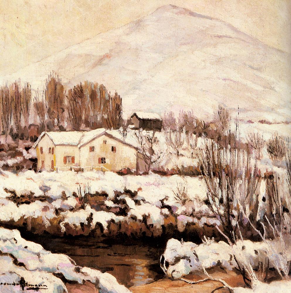 Александр Альтман. Снежный пейзаж