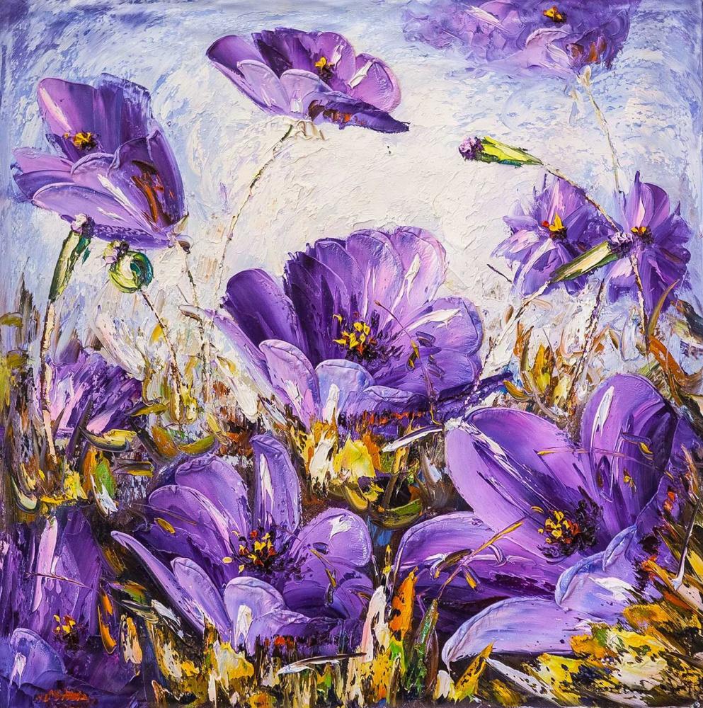 Andrzej Vlodarczyk. Flower fantasy. Lilac tone