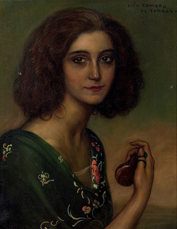 Julio Romero de Torres. Portrait of the actress Marichu Begonia