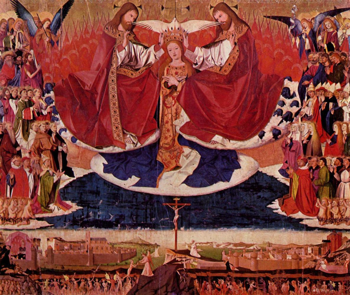 Ангерран Шаронтон. Коронование Марии. Алтарь монастыря картезианцев в Авиньоне