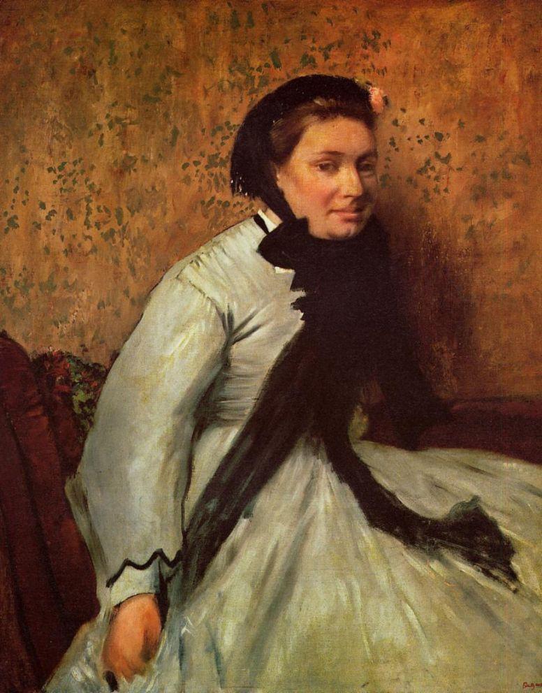 Edgar Degas. Portrait of a lady in grey