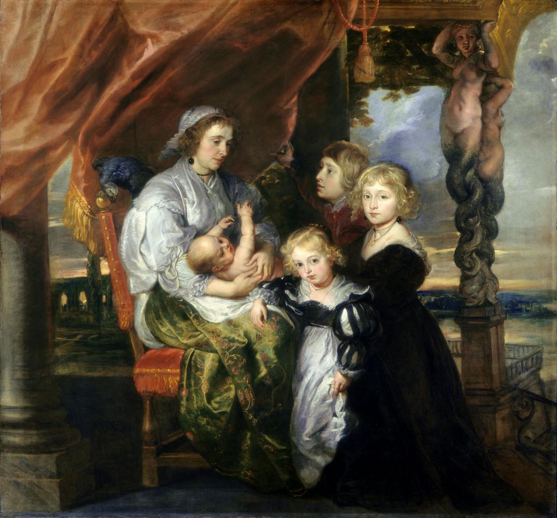 Питер Пауль Рубенс. Дебора Кип, жена сэра Бальтазара Жербье, и их дети