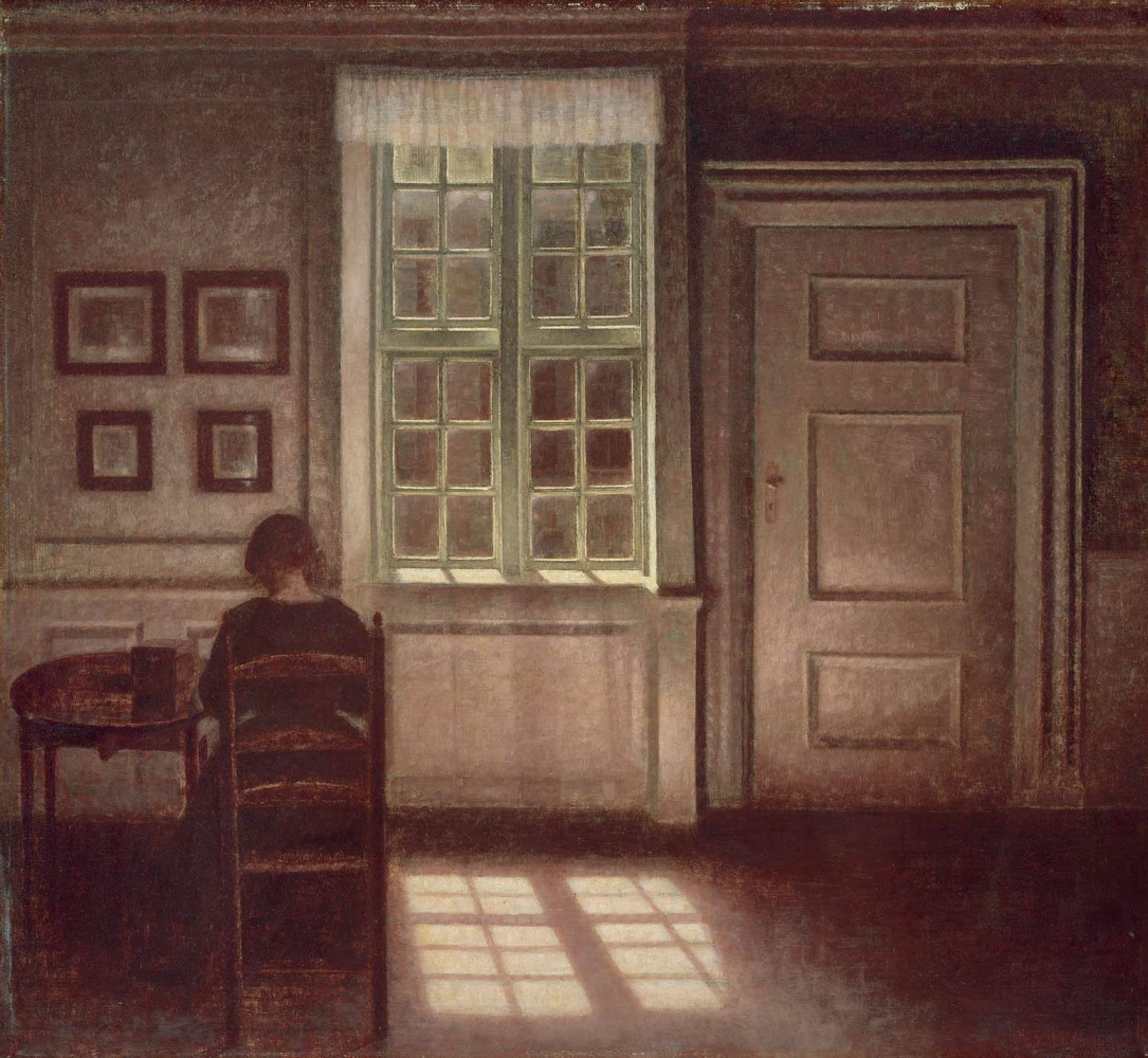 Вильгельм Хаммерсхёй. Интерьер. Женщина за столом