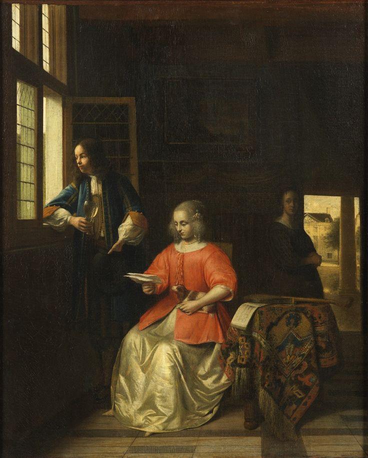 Питер де Хох. Девушка, читающая письмо