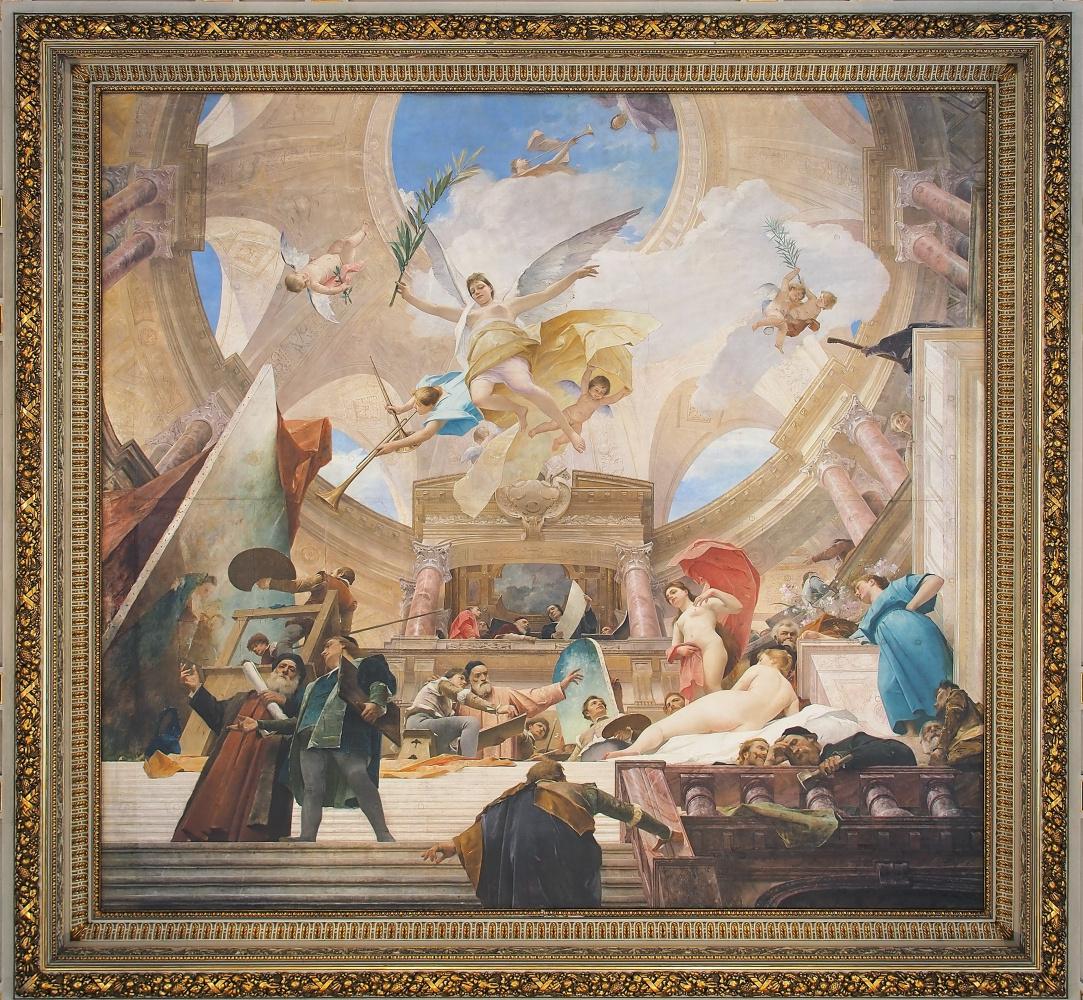 Михай Либ Мункачи. Апофеоз Ренессанса. Роспись потолка Венского музея истории искусств