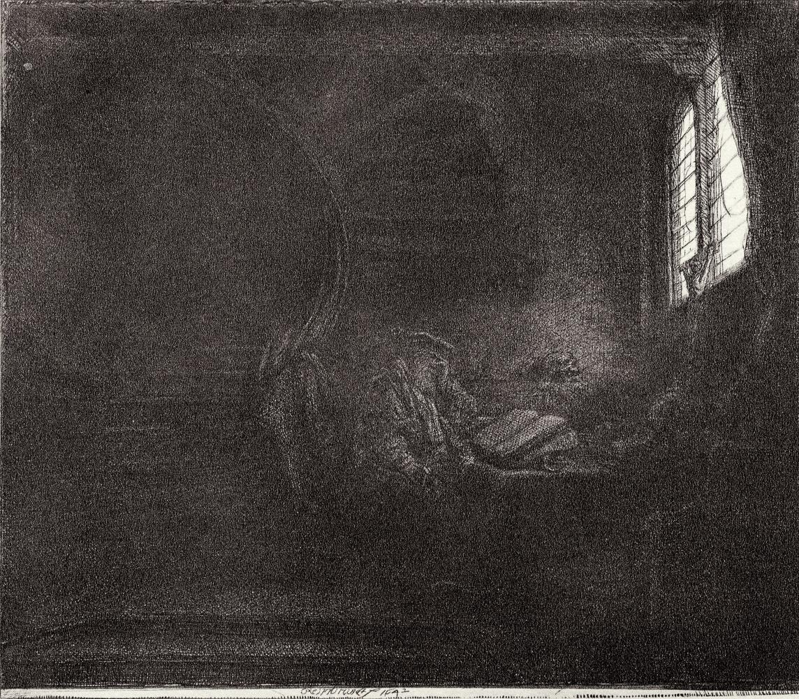 Рембрандт Харменс ван Рейн. Святой Иероним в комнате