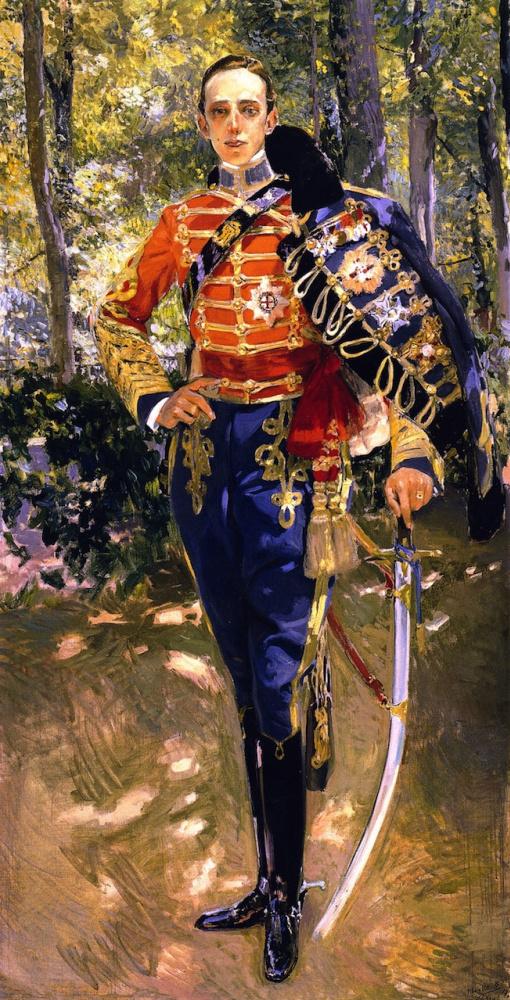 Joaquin Sorolla (Soroya). King Alfonso XIII in a hussar uniform