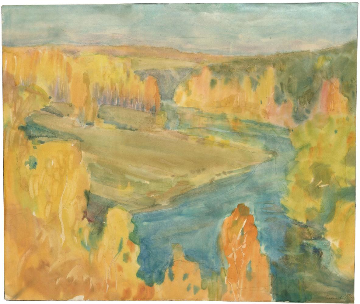 Alexandrovich Rudolf Pavlov. Autumn landscape №1. 1971