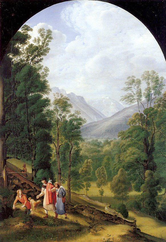 Иоганн Генрих Фердинанд Оливье. Лес