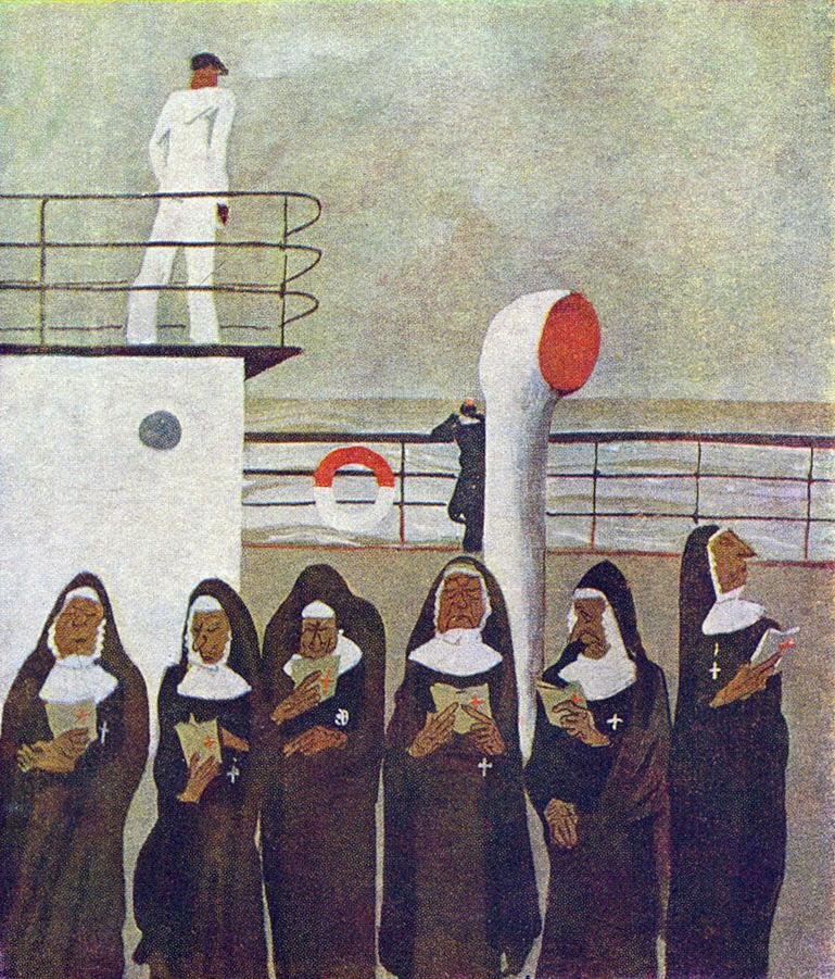 Александр Александрович Дейнека. Шесть монахинь