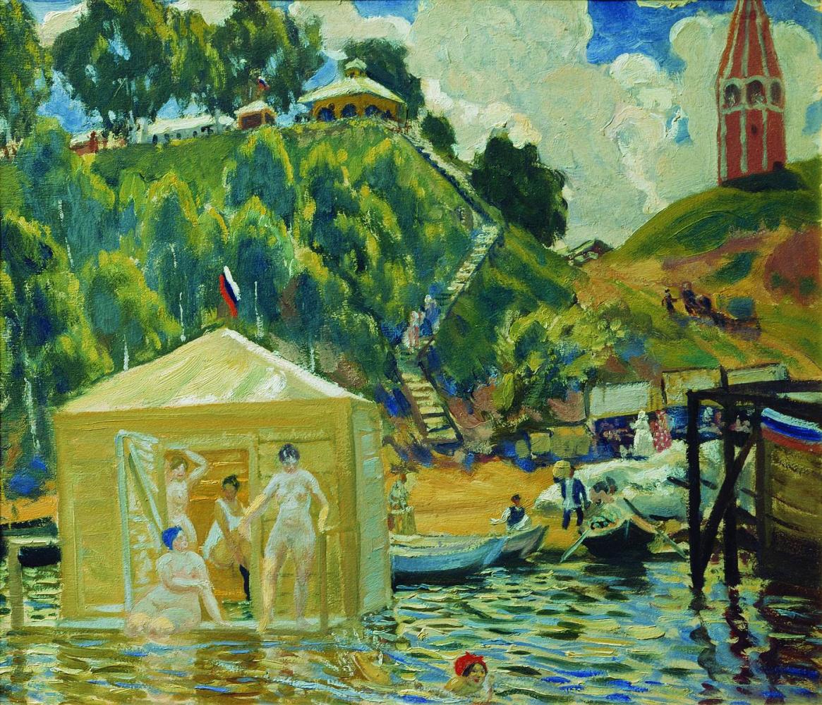 Boris Kustodiev. Bathing