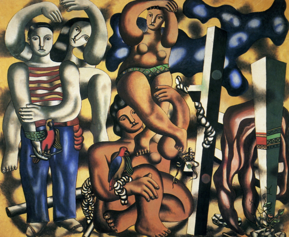 Fernand Leger. Composition with two parrots