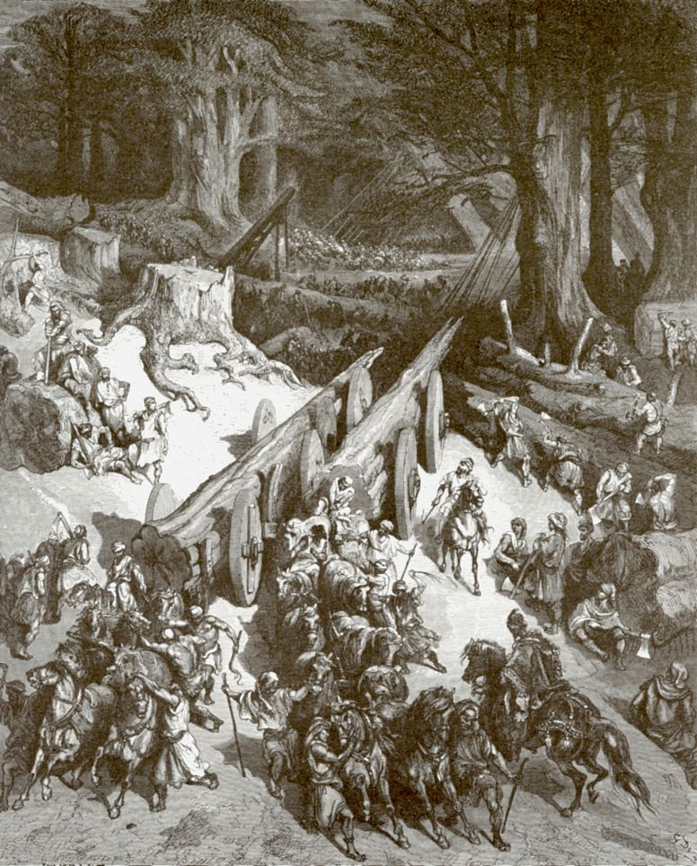 Поль Гюстав Доре. Кедры ливанские для храма