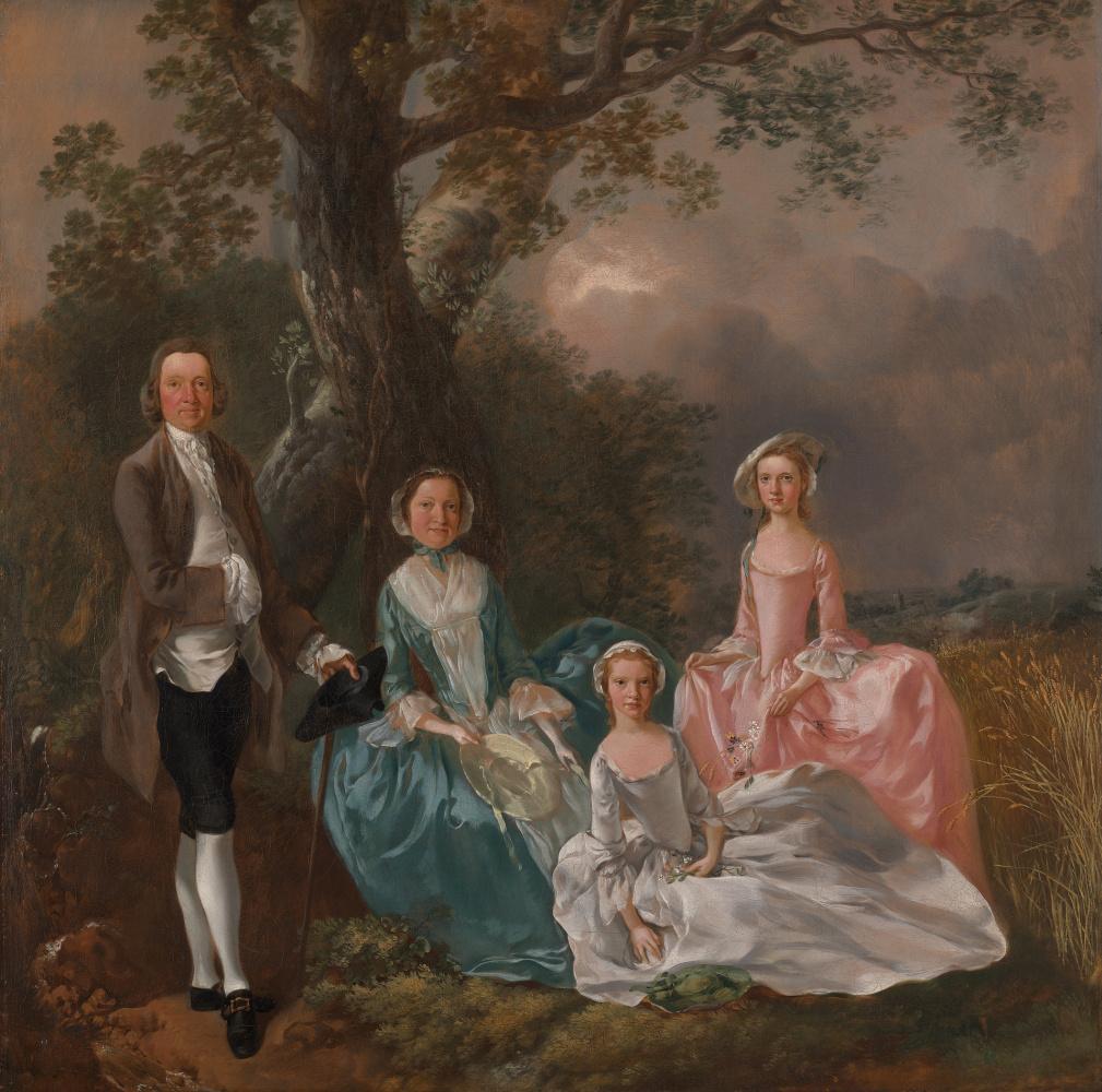 Thomas Gainsborough. Portrait of the family Gravenor