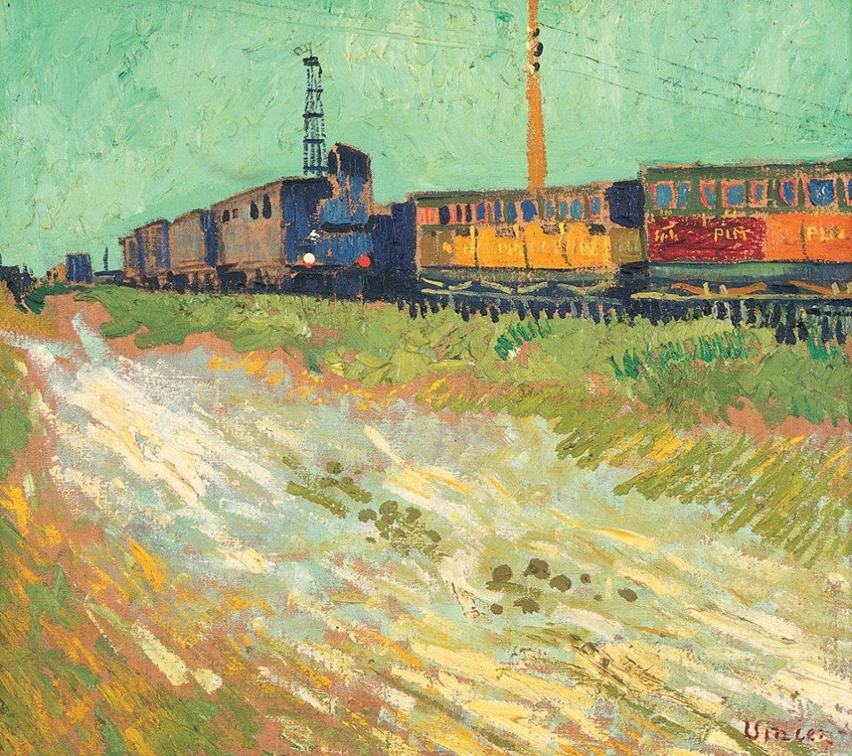 Vincent van Gogh. Railway cars