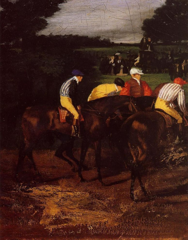 Edgar Degas. Jockeys at Epsom