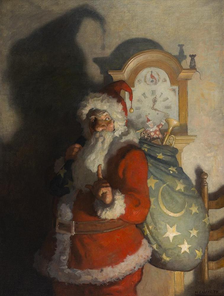 Ньюэлл Конверс Уайет. Это была ночь перед Рождеством, когда по всему дому не шевелилось ни одно существо, даже мышь
