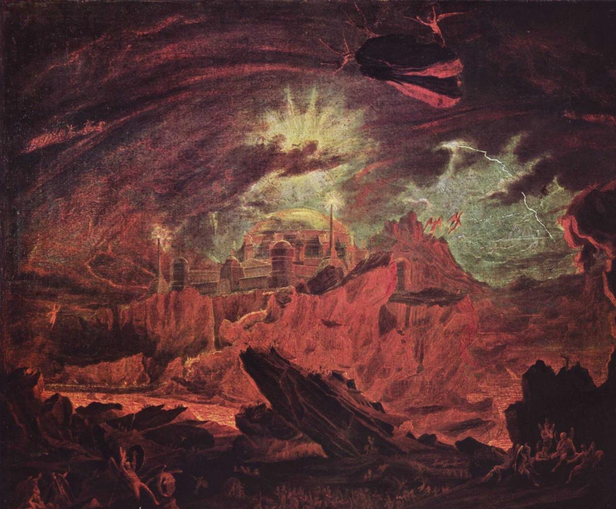Джон Мартин. Падшие ангелы в преисподней