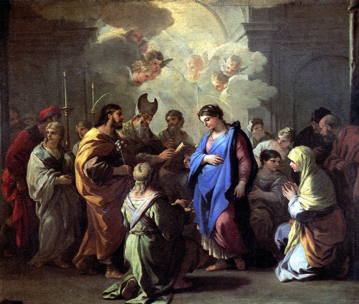 Luca Giordano. The betrothal of Mary to Joseph