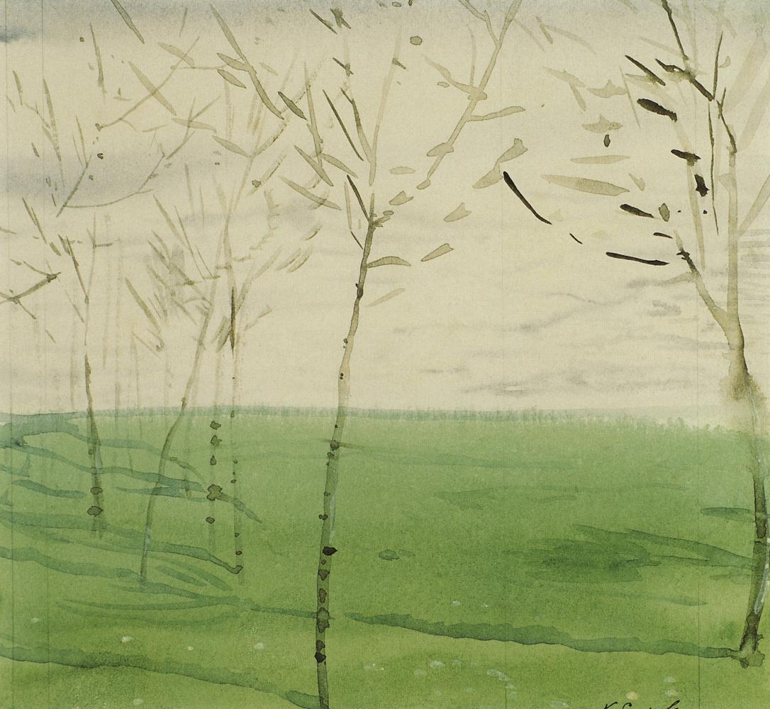 Constantin Somov. Spring landscape