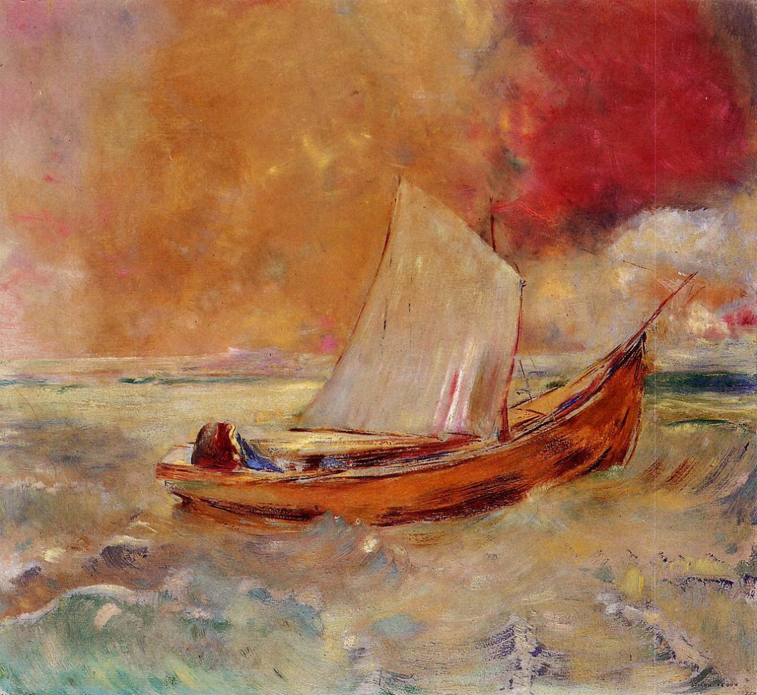 Odilon Redon. Yellow boat