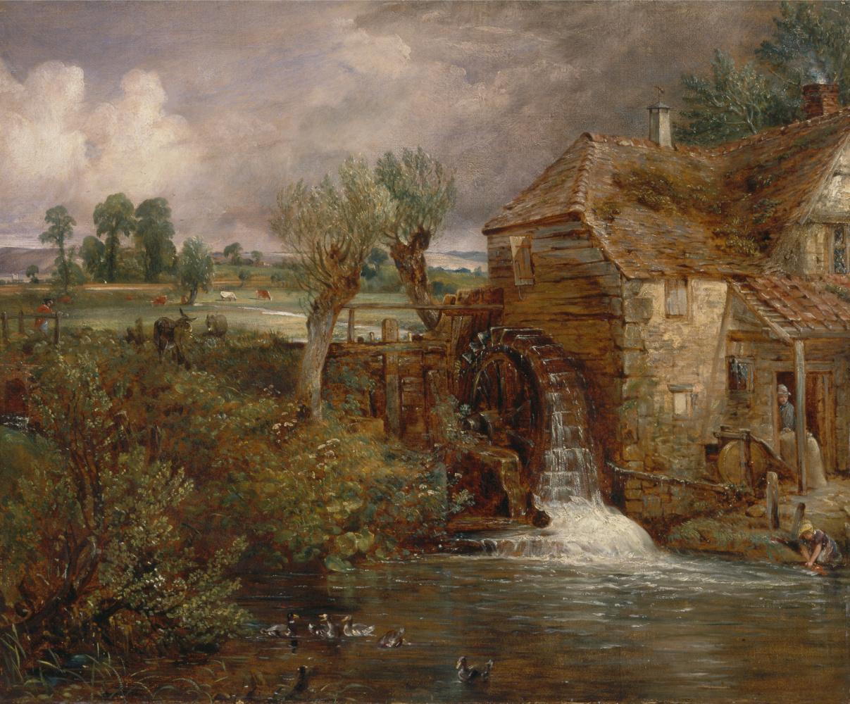 John Constable. Water mill, Gillingham