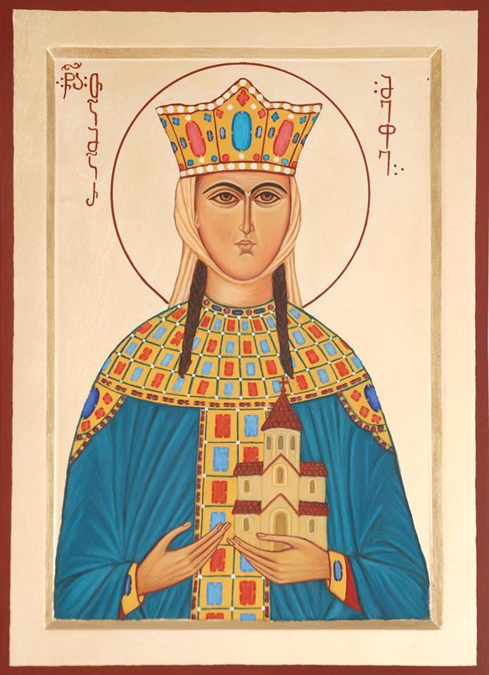 Badri bukia. Icon of Queen Tamara of Georgia