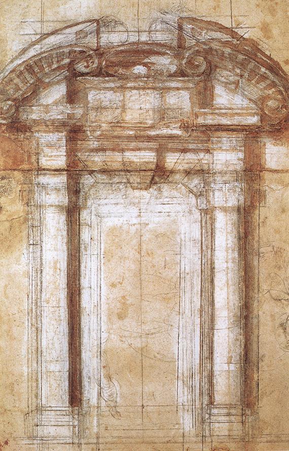 Микеланджело Буонарроти. Этюд к Порта Пиа