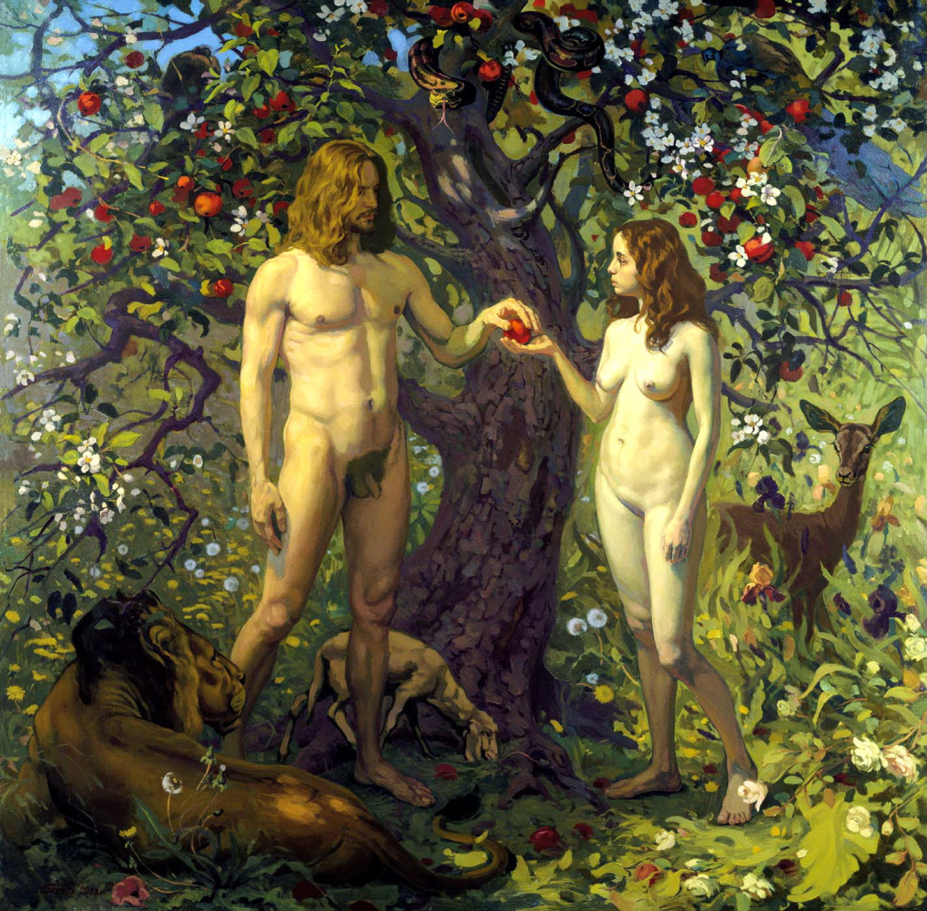 a literary analysis to the mythology of adam and eve Paradise lost analysis literary devices in paradise lost symbolism, imagery, allegory paradise lost is about adam and eve's loss of paradise.