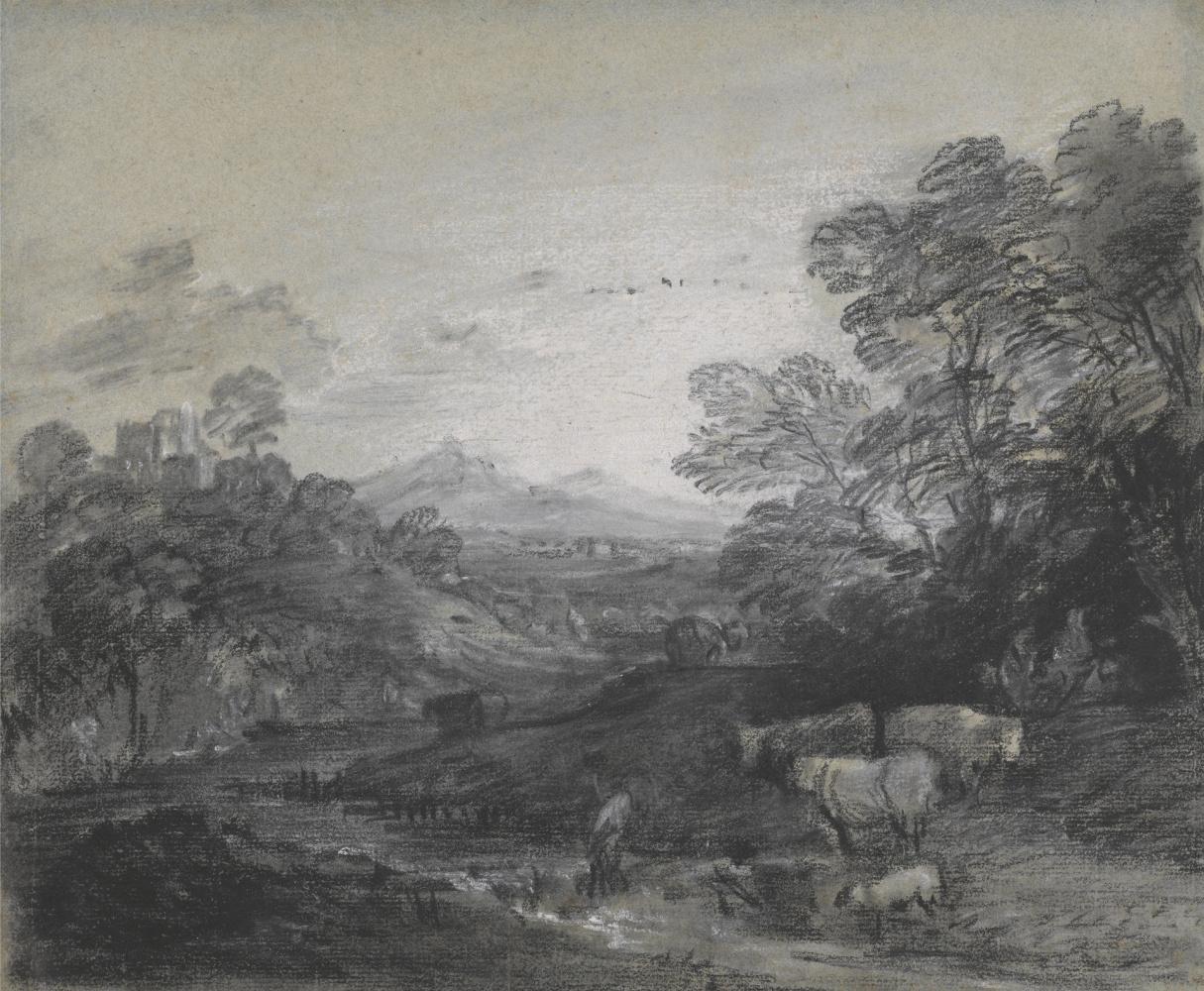 Томас Гейнсборо. Лесной пейзаж с пастухами и стадом