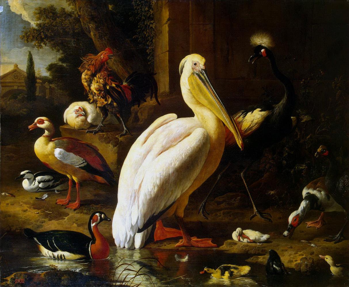 Melchior de Hondecuiter. Birds in the Park