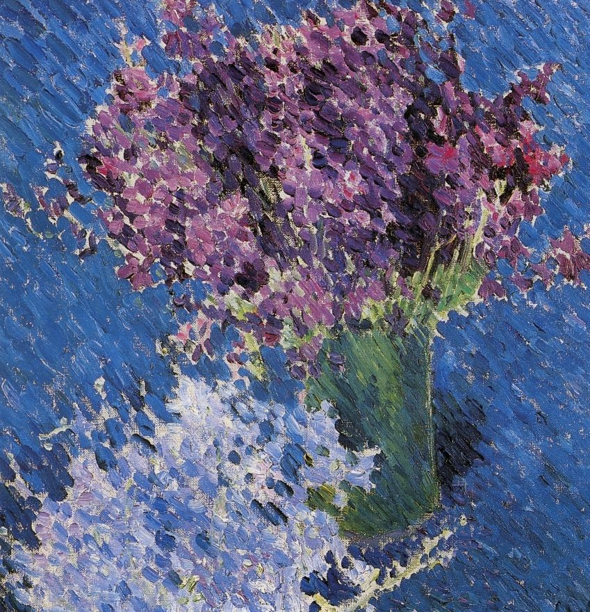Mikhail Larionov. Flowers (Still life with two bouquets)
