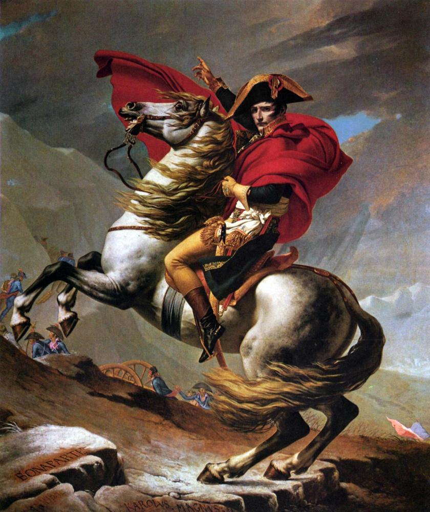 Жак-Луи Давид. Наполеон на перевале Сен-Бернар I