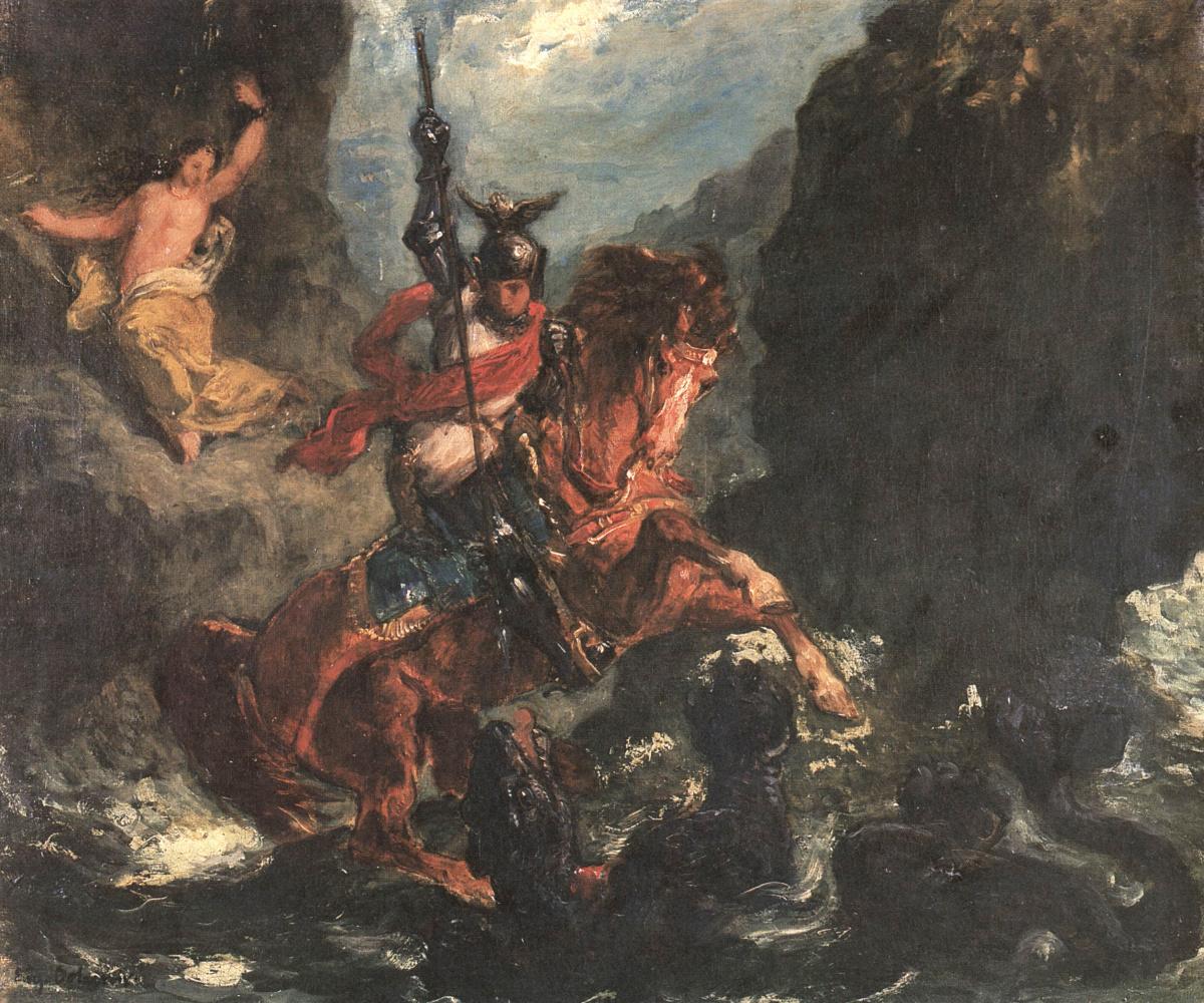 Eugene Delacroix. The Rescue Of Angelica