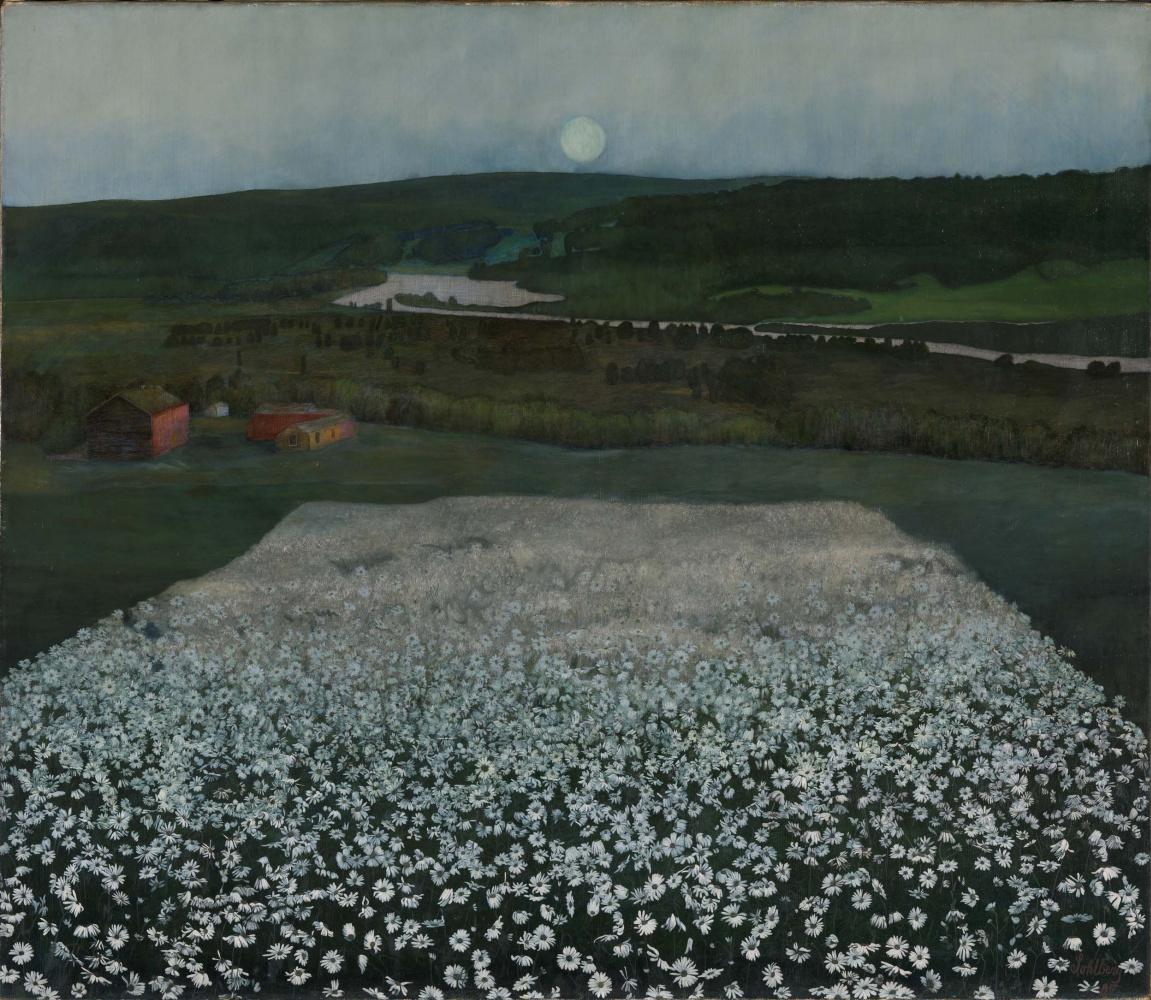Harald Oskar Sohlberg. Flower Meadow in the North
