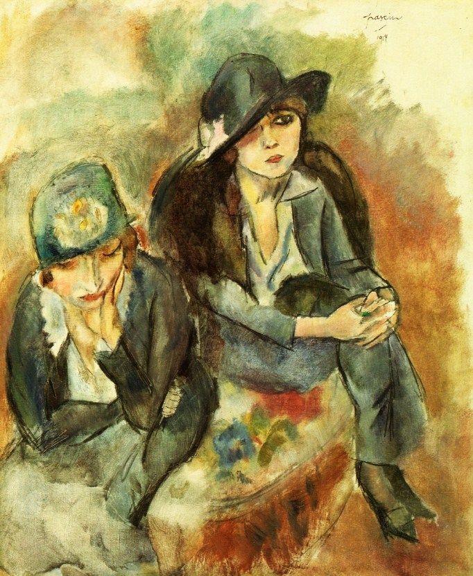 Жюль  Паскин (Мордехай Пинкас). Портрет жены художника с подругой