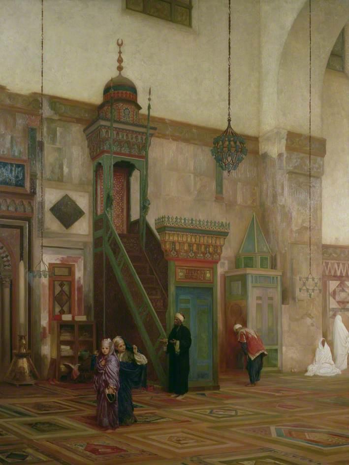 Сэр Фредерик Лейтон. Интерьер Большой мечети в Дамаске