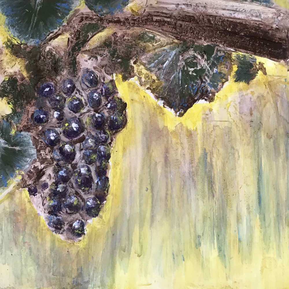 Flowers of Russia. Study 4. Grapes