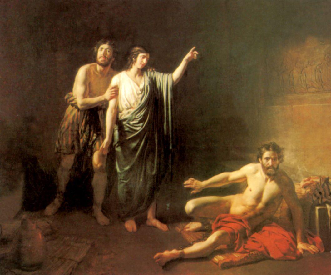 Александр Андреевич Иванов. Иосиф, толкующий сны заключенным с ним в темнице виночерпию и хлебодару