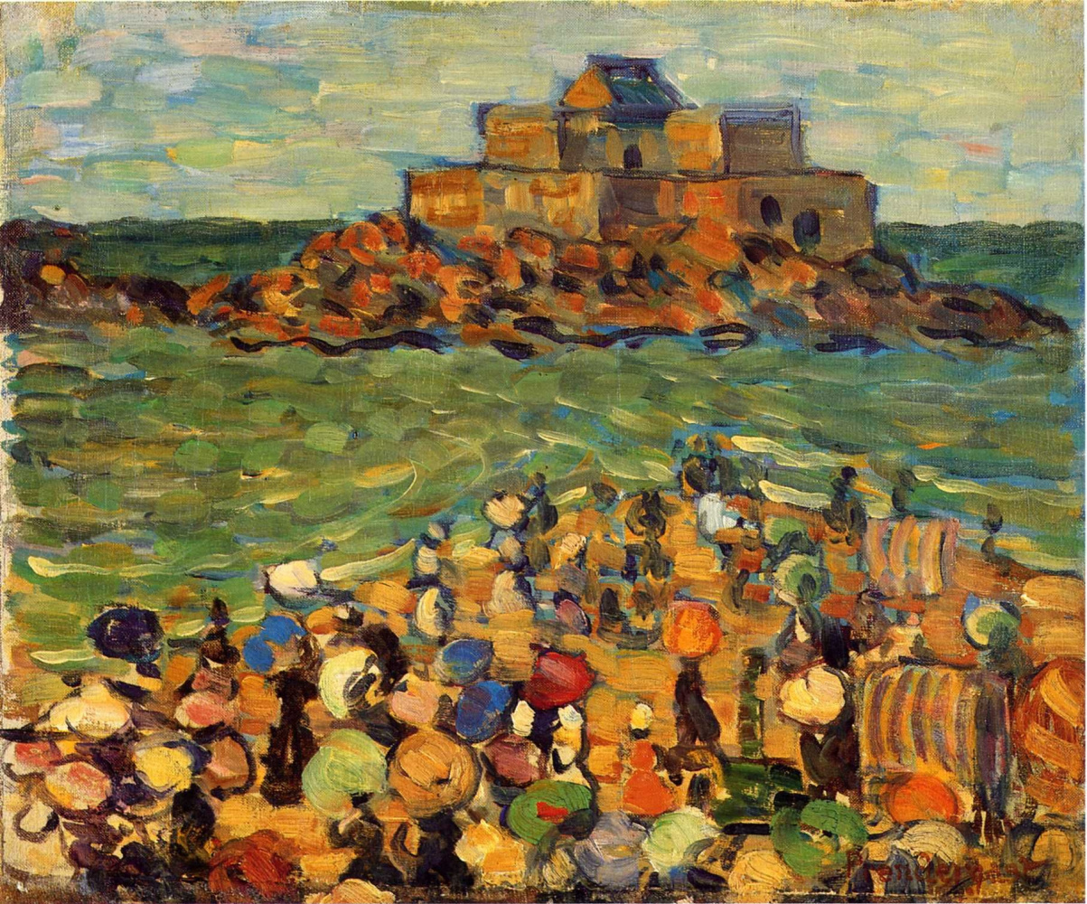 Maurice Braziel Prendergast. The Tomb Of Chateaubriand, St Malo
