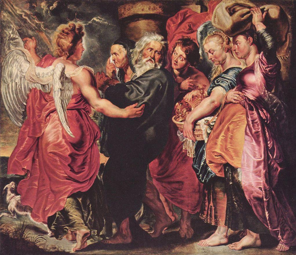Питер Пауль Рубенс. Лот с семьей, покидающий Содом
