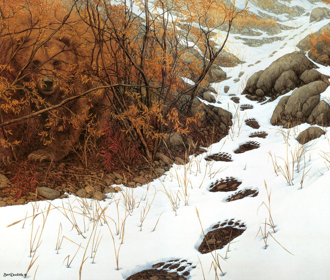 Bev Doolittle. To confuse the trail