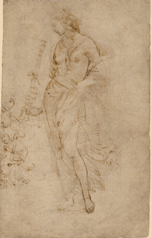 Raphael Sanzio. Sketch of a female figure
