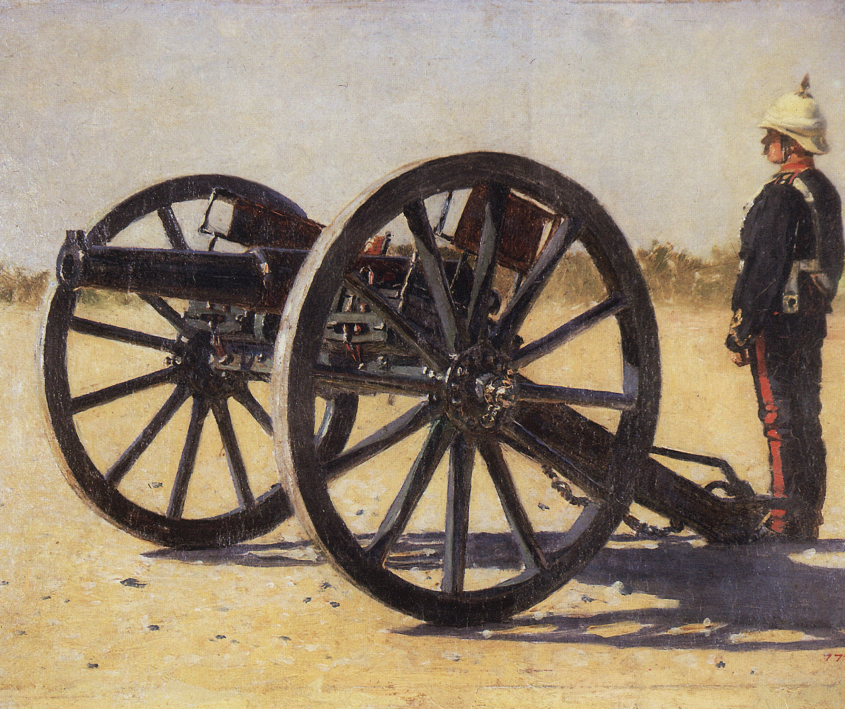 Vasily Vasilyevich Vereshchagin. A gun. Study for the painting 'Blowing from Guns in British India'