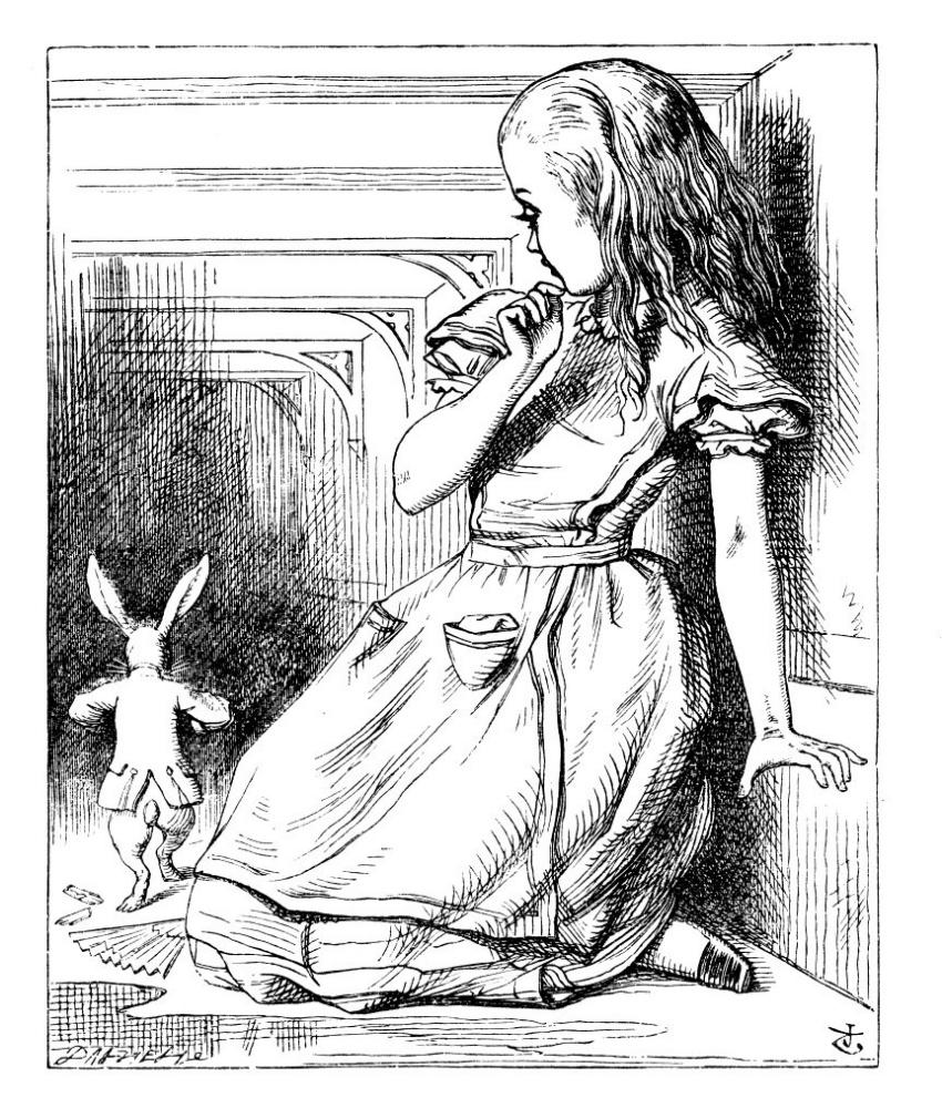 Джон Тенниел. Алиса с белым кроликом