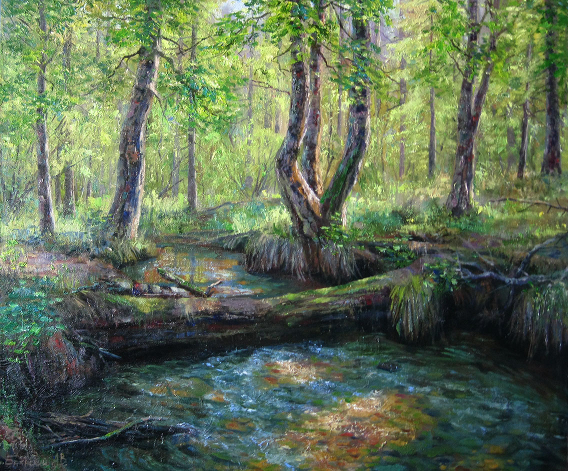 Andrei Vladimirovich Bryansky. The Creek near the village of Vydrino