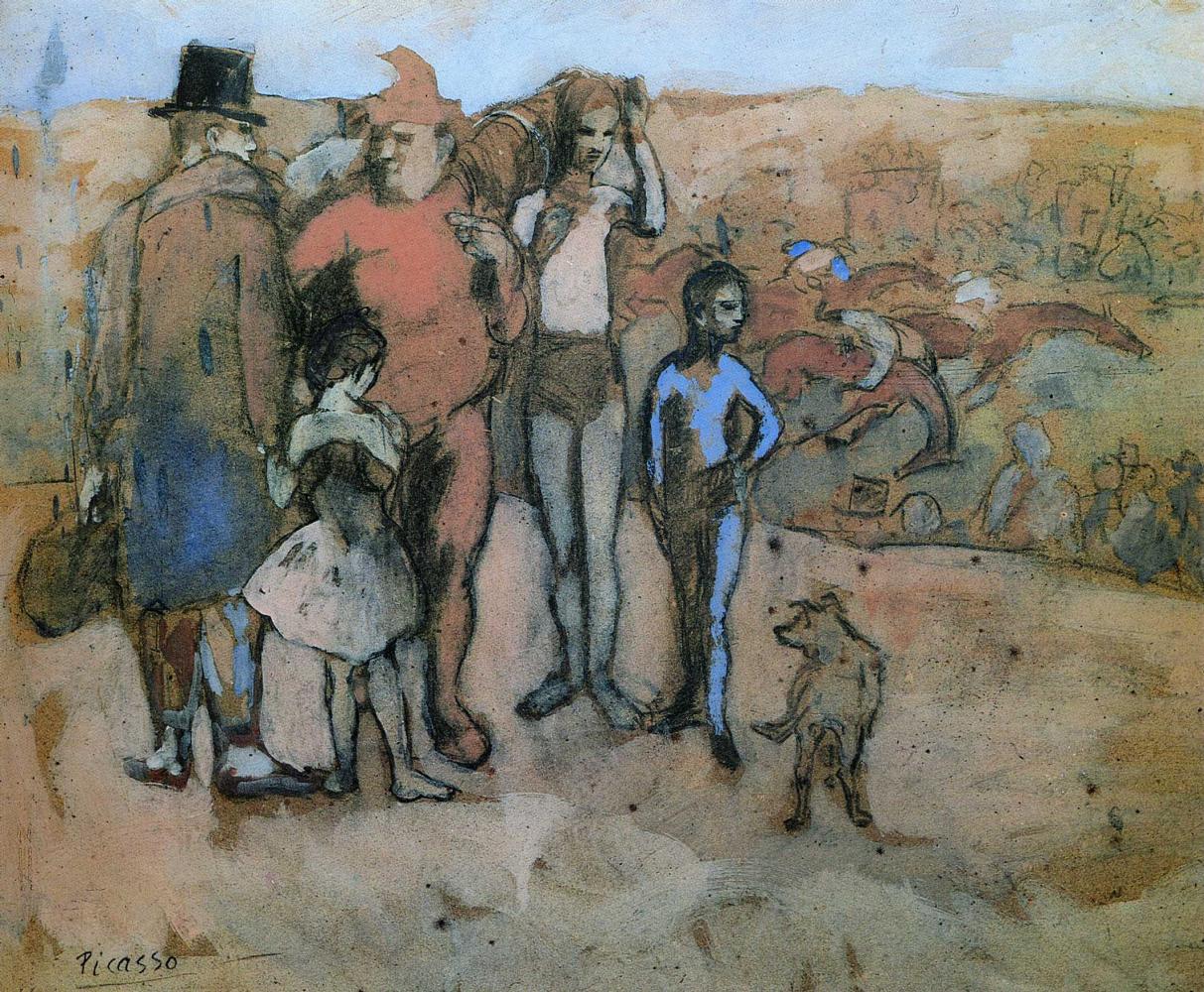 Пабло Пикассо. Семья комедиантов (набросок)