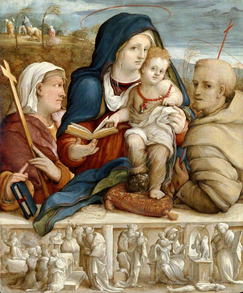 Amico Aspertini. St. Helena and St. Francis
