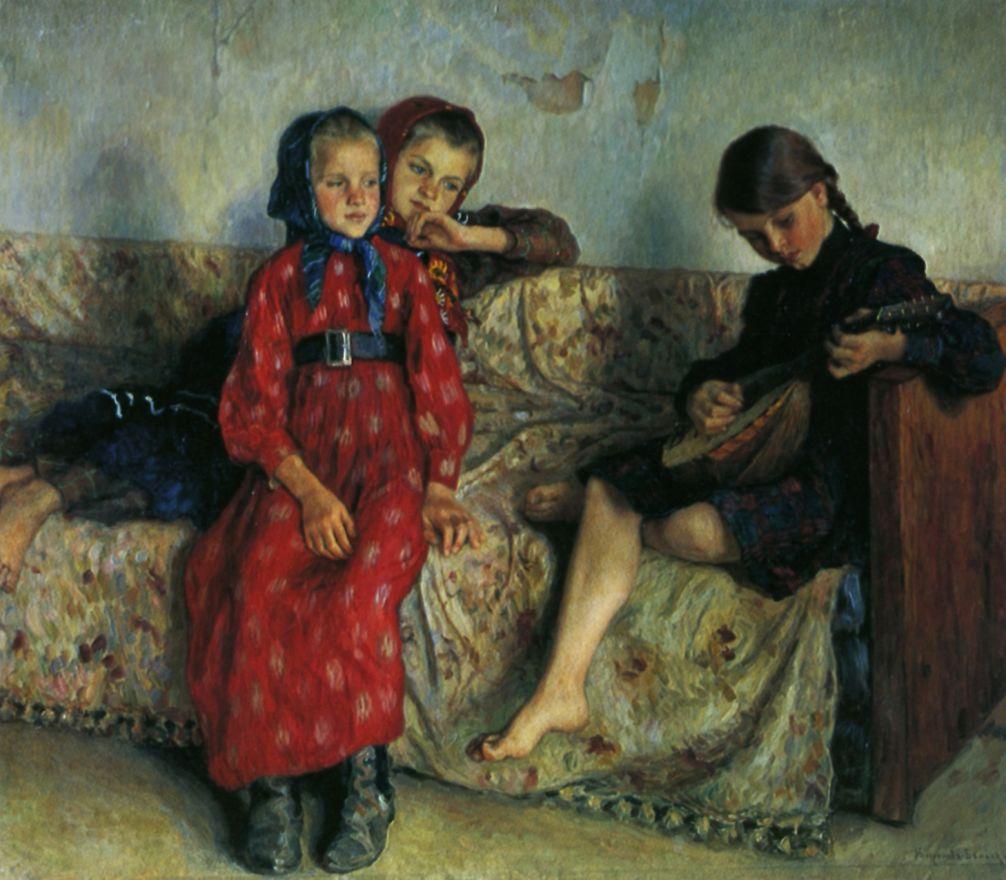 Николай Петрович Богданов-Бельский. Деревенские друзья