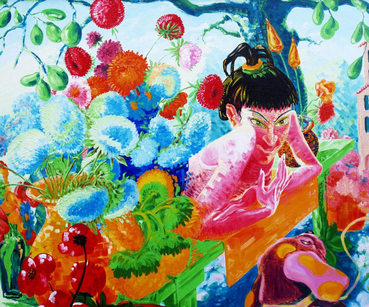 Kandinsky-DAE. Flower Saleswoman